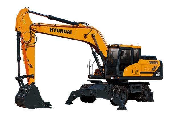 Колёсный экскаватор Hyundai HW210